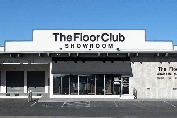 The Floor Club Showroom building from outside.